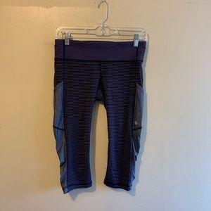 lululemon athletica Pants - Lululemon Athletica Cut The Crop Cadet Stripe 6